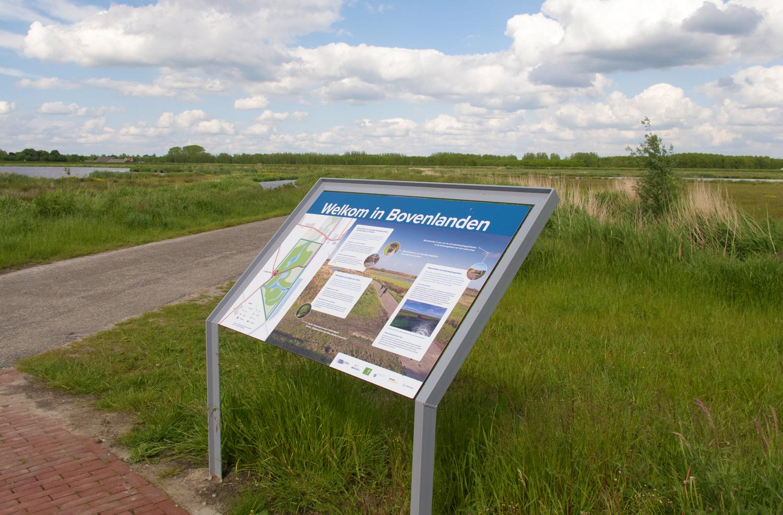 Informatiebord natuurgebied Bovenlanden